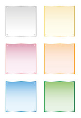 Frames silver, gold, glass, vector isolated objects