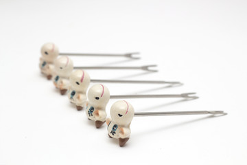 toothpicks in the shape of a cow