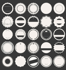 Blank retro vintage badges and labels
