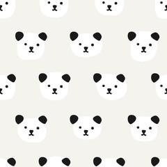 Seamless Pattern. Cute Panda