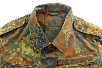military uniform isolated