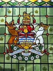 Windows shows British Columbian Coat of Arms
