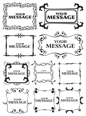 Decorative Vector Frames and Borders in Classical Vintage Style