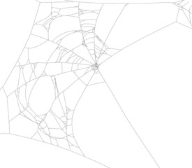 old black spider web with large holes