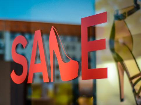 Shoe Store Sale Sign