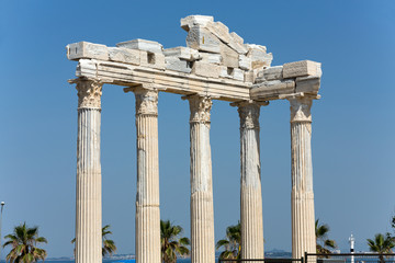 Temple of Apollo. Ancient ruins in Side. Turkey