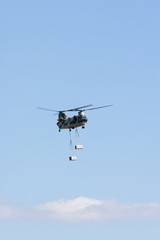 Japanese airshow performed by a cargo helicopter