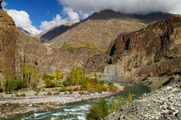 Beautiful Ghizer valley in Northern Pakistan