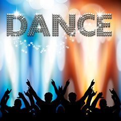 Dance poster light eruptions