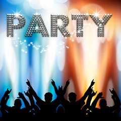 Party poster light eruptions