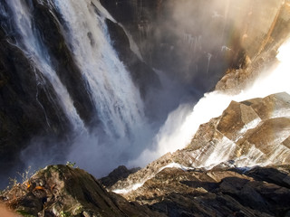 Garden Poster Dam Dam of Contra Verzasca, spectacular waterfalls