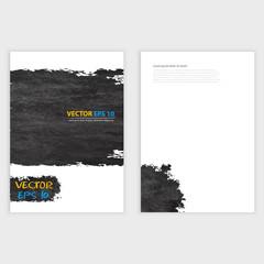 Vector Grunge template Flyer design.