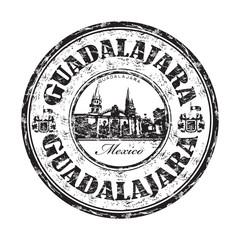 Guadalajara grunge rubber stamp