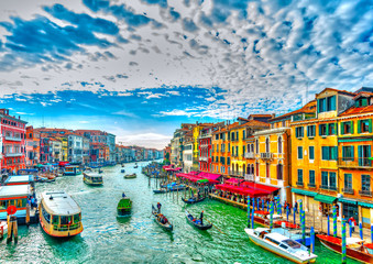 Fotorollo Venedig View of the Main Canal at Venice Italy. HDR processed