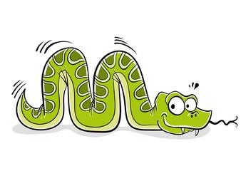 Snake cartoon.