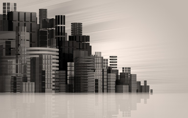 3d urban abstract background.