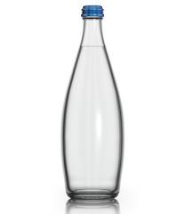 Soda water in glass bottle.