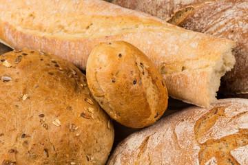 Deurstickers Bakkerij Close-up of traditional bread