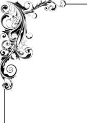 Floral leaf corner design