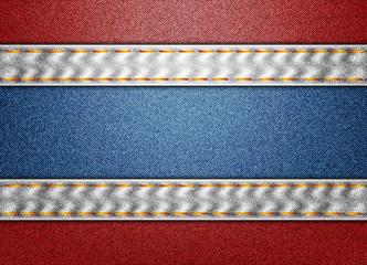 Thailand denim flag