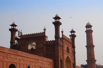 Badshahi Mosque or Red Mosque in Lahore,Pakistan.