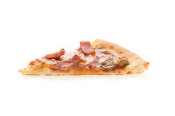 pizza slice isolated on white background