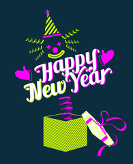Jack in the Box with Happy New Year Text