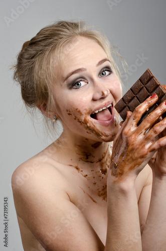 Трахнуть шоколадку