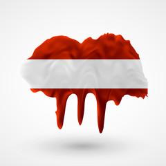 Flag of Austria painted colors