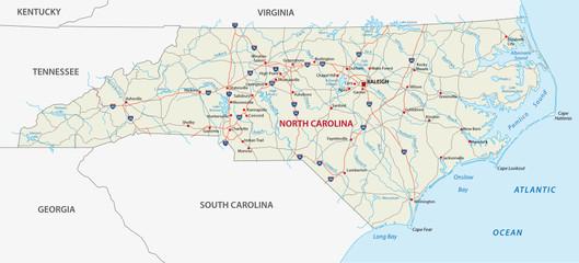 north carolina road map Wall mural