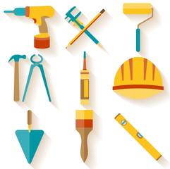 Flat design. Set of house repair icons