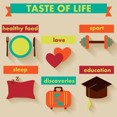 Taste of life.