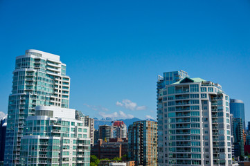Fototapete - Beautiful view of Vancouver, British Columbia, Canada