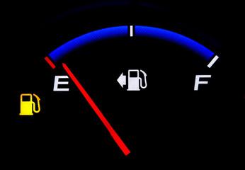 Fuel Gauge Showing Almost Empty