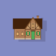 house flat icon design vector illustration element