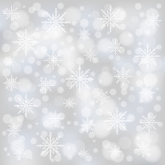 Christmas bokeh background with snowflakes