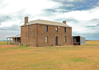 Old Australian bluestone homestead