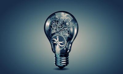 Light bulb with gears