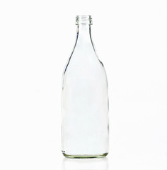 Glass bottle isolated on a white background