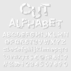 Decorative cut paper alphabet