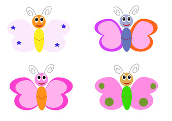 butterfly cartoon characters