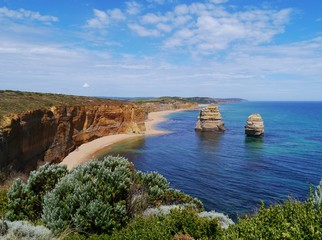 Two of the twelve apostles at the Great Ocean road