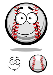 Smiling cartoon baseball ball