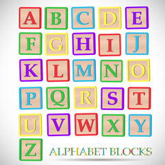Alphabet Block Illustration