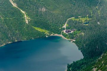 Obraz Jezioro w górach - fototapety do salonu