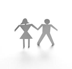 paper people couple love romance togetherness
