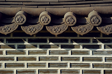 Oriental Wall with Roof