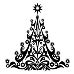 Christmas Decorative Tree-Vector