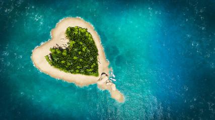 Spoed Fotobehang Eiland heart island