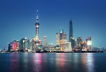 Garden Poster Shanghai Shanghai at night, China